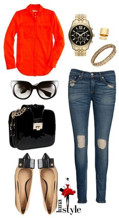 Casual outfit with a special bag - CLARA