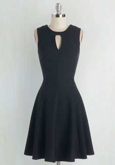 Moxie Must-Have Dress in Black. Put your spunky disposition on display with this little black dress! #black #wedding #modcloth