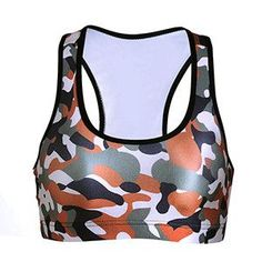 Fitness Bras Women Soutien Gorge Padded Push Up Bra 3D Camouflage Sports Bra Gym Wire Shakeproof Seamless Workout Top Bras