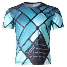 New 2015 Men's 3D T-shirt Creative The Geometric Quick Dry 3D T Shirt Personality Short Sleeve Top Tees Sportwear Free Shipping #regalo #arte #geek #camiseta