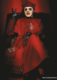 "cardinalsource: """"Cardinal Copia for KERRANG! magazine. If you repost, please source back to this blog. "" "" Ghost Papa, Ghost Bc, Doom Metal Bands, Band Ghost, Ghost And Ghouls, Ghost In The Machine, Ghost Photos, Red Aesthetic, Great Bands"