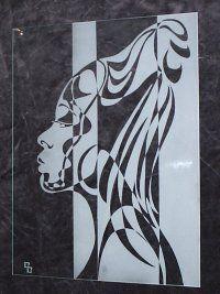 Bertrand Bruno - gravure sur verre - Divers Monlet - Haute-loire