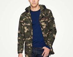 486fbab55723 Levi s camo Washed Cotton Fishtail Parka Jacket