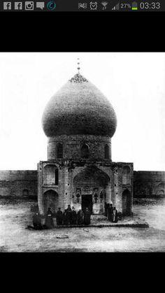 First known pic of Hazrat Abbas'(as) shrine قبر العباس عليه السلام