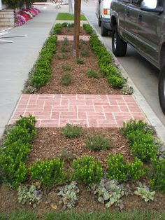 99 Relaxing Front Sidewalk Landscaping Ideas - In my last article on front yard landscaping I discus Sidewalk Landscaping, Front Yard Landscaping, Landscaping Ideas, Sidewalk Ideas, Acreage Landscaping, Small Shrubs, Front Yard Design, Flower Garden Design, Flower Gardening