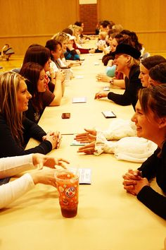 "Relief Society Activities-a fun one to try...similar to ""speed dating""  to get to know each other better"
