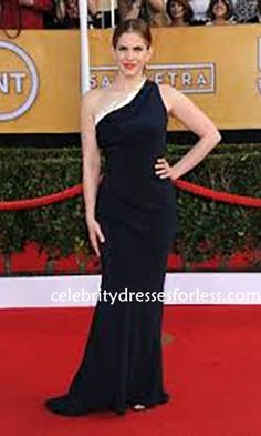 Anna Chlumsky 2014 SAG Awards One Shoulder Gown Formal Dress.prom dresses,formal dresses,ball gown,homecoming dresses,party dress,evening dresses,sequin dresses,cocktail dresses,graduation dresses,formal gowns,prom gown,evening gown