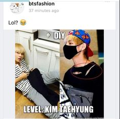 That's just TaeTae's fashion lol