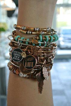 #alexandani #USA ~ <3 my Alex and Ani bracelets...Bronze Lady Madeira Beach FL