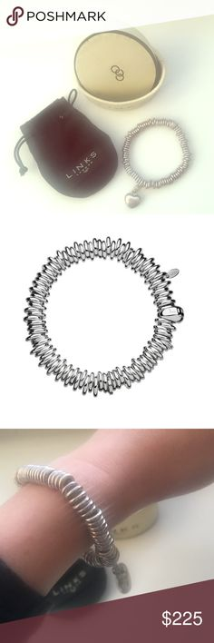 {LINKS OF LONDON} bracelet This sterling silver Sweetie bracelet is a tactile and fun alternative to the charm bracelet with an expandable circumference. Comes with sterling silver heart charm, Links of London box and dust bag. Excellent condition, only worn a handful of times. ✅offers welcome✅ 🚫no trades🚫 Links of London Jewelry Bracelets