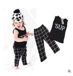 "http://babyclothes.fashiongarments.biz/  2016 new girls boys clothing sets for summer Baby Kids children Clothes Suit ""sup"" vest t-shirt+pants roupas infantil meninas, http://babyclothes.fashiongarments.biz/products/2016-new-girls-boys-clothing-sets-for-summer-baby-kids-children-clothes-suit-sup-vest-t-shirtpants-roupas-infantil-meninas/,  2016 boys girls summer sets t shirt+pants ins hot 1700  size:70 80 90 100  70 fit 0-6m  80 fit 7-12m  90 fit 12-18m  100 fit 18-24m     USD 7.50/setUSD…"