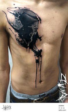 DYNOZ ArtAttack Crew Tattoo - Skull