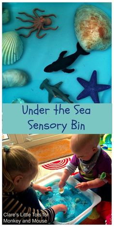 Under The Sea Sensory Bin - Monkey and Mouse