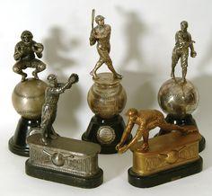 Vintage Baseball Trophies.