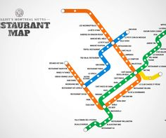 A Montreal map of recommended restaurants by metro stop. Fun idea. And good resource for newcomers to the city like Lora Weaver:)