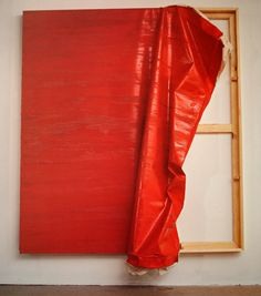 "Angela de la Cruz ""Ready to Wear (Red)"" The piece that caught my eye, and made me want to do a project on Ms. de la Cruz."