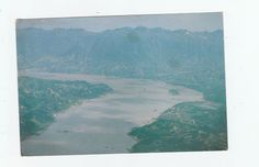 china postcard Three Gorges Zhong bao Isle unused in fair condition