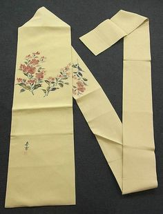 This is a tasteful Nagoya obi with 'Sakura'(cherry blossom) design, which is dyed