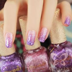 Fairy nails !!!!<3 rainbow fairy nails...we could do this if you were at all interested...and/or toes