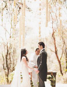 hanging flower strands ceremony