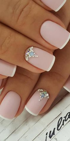 Amazing Matte Acrylic Nails When You Are Tired of the Glossy Ones - Variations In French Manicure Matte Acrylic Nails, French Acrylic Nails, Summer Acrylic Nails, French Nails, Summer Nails, Natural Nail Designs, Beautiful Nail Designs, Pink Nails, Glitter Nails