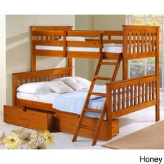 Kids Beds with Storage - Twin over Full Bunk with Optional Underbed Drawers