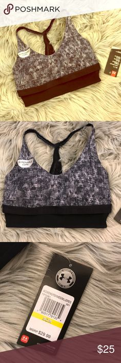 NWT Under Armour Sports Bra. Size Medium Brand new with tags Under Armour Sports bra with underlining band and removable cups. Super comfy and supportive impact sports bra. Black/white print detail. Selling cheaper than what I paid! Accepting best fair offer👋 Under Armour Intimates & Sleepwear