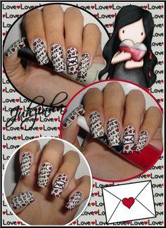 love letter VALENTINE #nail #nails #nailart