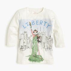 J.Crew+-+Girls'+Olive+Statue+of+Liberty+T-shirt