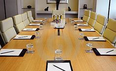 Closeup of table of a modern meeting room , Office Meeting, Meeting Rooms, Cleaning Companies, Contemporary, Modern, Office Cleaning, Table, Furniture, Image