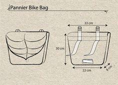 Purple Turquoise Leaf Pannier Bag Bike accessory by LeaflingoOo  -- so gorgeous!
