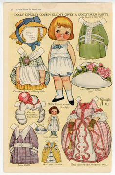 75.2973: Dolly Dingle's Cousin Gladys Gives a Fancy-Dress Party | paper doll | Paper Dolls | Dolls | National Museum of Play Online Collections | The Strong