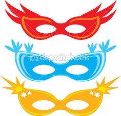Vector carnival masks (masks for masquerade)