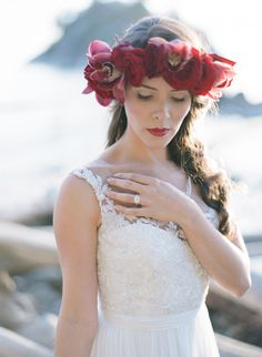 Photography: Hong Photography Studio - hong-photography.com  Read More: http://www.stylemepretty.com/canada-weddings/2014/12/24/rustic-red-green-seaside-inspiration/