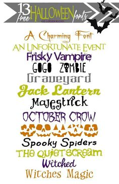 Funtastic Halloween Fonts via Lolly Jane