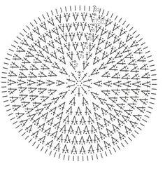 Beautiful diagram to crochet lace summer hats, crochet patterns Crochet Pillow Pattern, Crochet Motifs, Crochet Tunic, Crochet Mandala, Crochet Diagram, Crochet Stitches Patterns, Doily Patterns, Crochet Chart, Crochet Granny