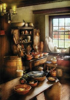 Old Kitchen, Kitchen Art, Country Kitchen, Vintage Kitchen, Vintage Farmhouse, Country Farmhouse, Farmhouse Decor, Kitchen Design, Warm Kitchen