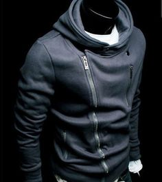NWT Slim Sexy Top Designed Zip men Hoodie