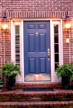 red brick house door colors | ... door i love this color blue and here s some other blue front doors