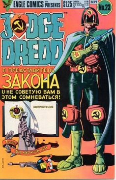 Judge Dredd issue US issue for the Mega City lawman from Eagle Comics. In this issue, classic Apocalypse War action. Cover by Brian Bolland