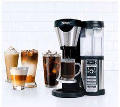 Ninja Coffee Maker Machine One Touch Bar Brewer 43 oz. Glass Carafe - New Espresso Machine Reviews, Coffee Maker Reviews, Coffee Brewer, Coffee Shop, Coffee Geek, Coffee Lovers, Natural Coffee, Best Espresso, Italian Espresso