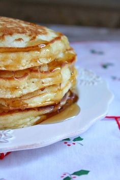 Eggnog Pancakes ***Very unhealthy due to the 2 cups of eggnog. Used half whole wheat and half white flour ***