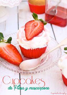 Cupcakelosophy: Cupcakes de fresa con betún de Mascarpone