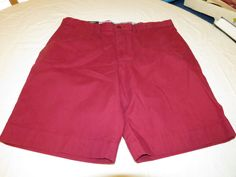 Men's Tommy Hilfiger 36 Classic Fit shorts 610 Beet Red 7875107 casual TH #TommyHilfiger #shorts