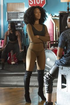 Tiana Brown wearing  Adidas Season 1 Bodysuit