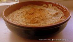 Homemade hummus  Recipe here: http://nononsensefood.blogspot.co.uk/2013/08/homemade-hummus.html