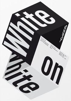 White On White – Südpol Graphic Poster Design by Felix Pfäffli Graphic Artwork, Graphic Design Posters, Graphic Design Typography, Graphic Design Illustration, Poster Designs, Typography Quotes, Typography Letters, Graphisches Design, Buch Design
