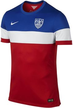 1b269f07da7 Nike USA 2014 Authentic Away Soccer Jersey (University Red Football White Game  Royal)