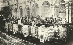 Il primo viaggio in treno sotterraneo, Edgware Road Station, Londra, 1862