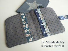 porte cartes Coin Couture, Couture Sewing, Afrika Festival, Fabric Wallet, Wallet Tutorial, Liberty Print, Sewing Accessories, List, African Fashion